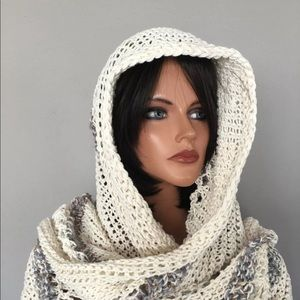 Hand Knits 2 Love ❤️ Accessories - Hand Knits 2 Love Cotton Shawl Designer Yarn Chic